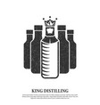 minimalist crown abstract king bottle logo vector image vector image