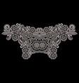 neckline - black and white ethnic design vector image vector image