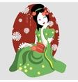 New geisha in a kimono vector image vector image