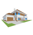 new realistic family cottage 3d house icon vector image