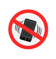 no gadget smartphone sign icon vector image