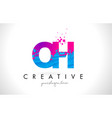 oh o h letter logo with shattered broken blue vector image vector image