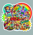 pattern children music vector image