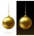 realistic red matte christmas balls hanging on vector image vector image