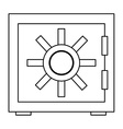 safety vault icon vector image