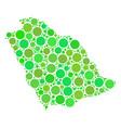 saudi arabia map mosaic of circles vector image