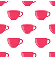 seamless pattern of tea cup in cartoon flat style vector image vector image