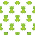 seamless pattern with cute frogs background for vector image vector image