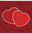 seamless wrapping paper - two hearts and text vector image vector image
