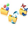 set of flying object in folder-02 vector image vector image
