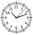 simple black and white clock forty-seventh edition vector image vector image