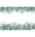 summer vacation background with palm trees vector image