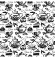 Tea and cake seamless pattern vector image vector image