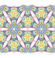 thin kaleidoscopic triangle pattern vector image