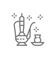 traditional saudi arabian tea arabian drink line vector image vector image