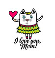 typography and lettering pussycat i love you mom