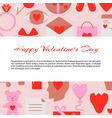 valentines day concept banner with love icons vector image