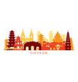 vietnam architecture landmarks skyline shape vector image vector image