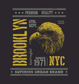 vintage urban typography with eagle head vector image vector image