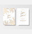 wedding vintage invitation save the date card vector image vector image