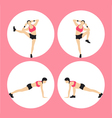 Woman Fitness vector image vector image