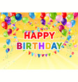 yellow birthday card vector image