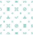 yes icons pattern seamless white background vector image vector image