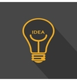 bulbs design over yellow background vector image
