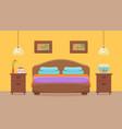 hotel room interior vector image