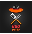 BBQ party invitation poster vector image