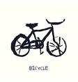 bicycle hand drawn vector image