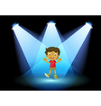 A little kid at the center of the stage vector image vector image