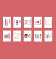 a set of graphs charts pie charts and diagrams vector image vector image