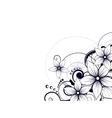 Abstract background with floral ornament elements vector image