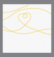 abstract golden or bronze color chain decorative vector image