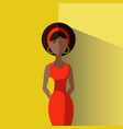 an elegant young afro girl in vector image