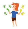 Artist kid children character vector image