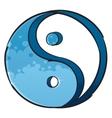 Artistic yin-yang symbol vector image