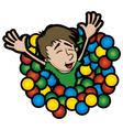 ball pit vector image vector image