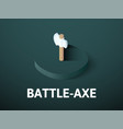 battle-axe isometric icon isolated on color vector image vector image
