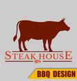bbq steak house logo image vector image vector image