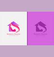 beauty house logo design abstract creative house vector image vector image