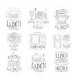 Best In Town Lunch Menu Set Of Hand Drawn Black vector image vector image