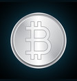 bitcoin silver metal design vector image