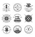 Black Tailor Emblem Set vector image vector image