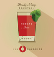 Bloody mary icon vector image