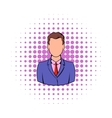 Businessman icon in comics style vector image vector image