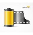 camera film roll cartridge vector image vector image