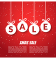 Christmas balls sale poster template Xmas sale vector image vector image