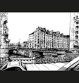 City hand drawn Street sketch vector image vector image